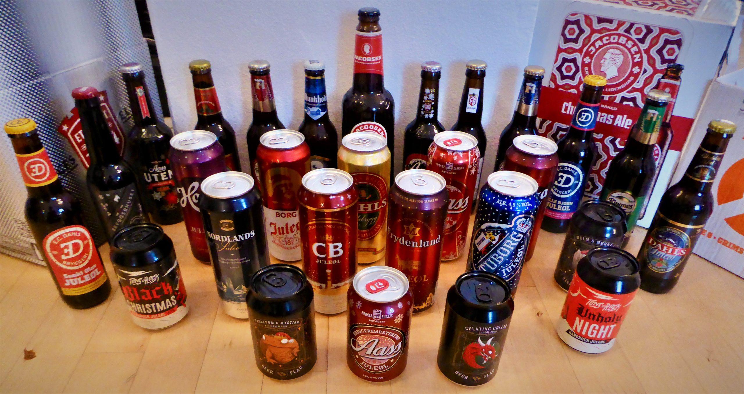 Fra juletest til julefest – Bulle har prøvesmakt 28 slag øl til jul
